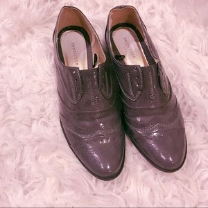 F21 Patent Loafers Size 7